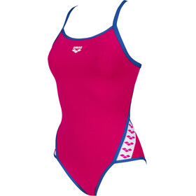 arena Team Stripe Super Fly Back Maillot de bain une pièce Femme, freak rose/royal